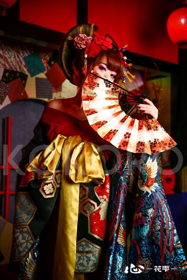 京都 花魁体験 化粧 着物 ヘアメイク