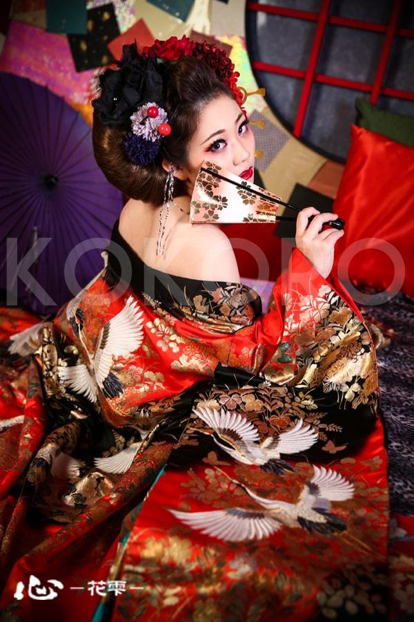 京都 花魁体験 写真 撮影 カメラ 旅行 観光 着物  化粧 ヘアメイク 祇園