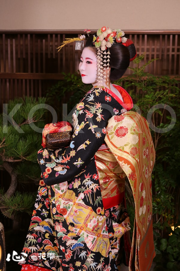 京都 祇園 東山 舞妓体験 稲穂のかんざし