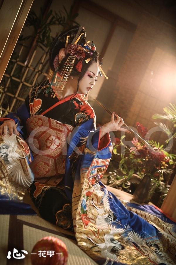 京都 花魁体験 着物