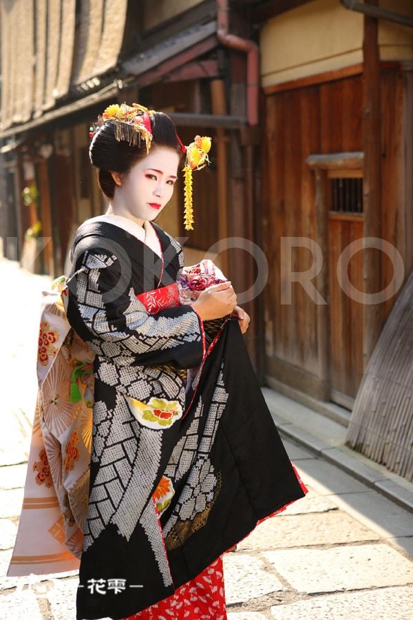 京都 舞妓体験 稲穂の簪 野外撮影