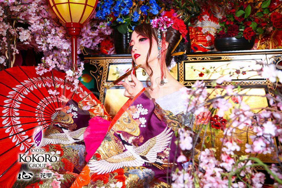 京都の心花雫で本格花魁体験