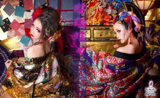 古典と現代の花魁ヘアスタイル