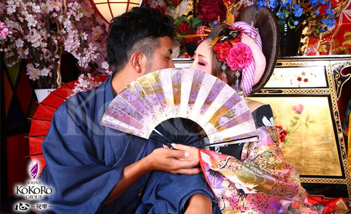 京都観光のオススメはカップル花魁
