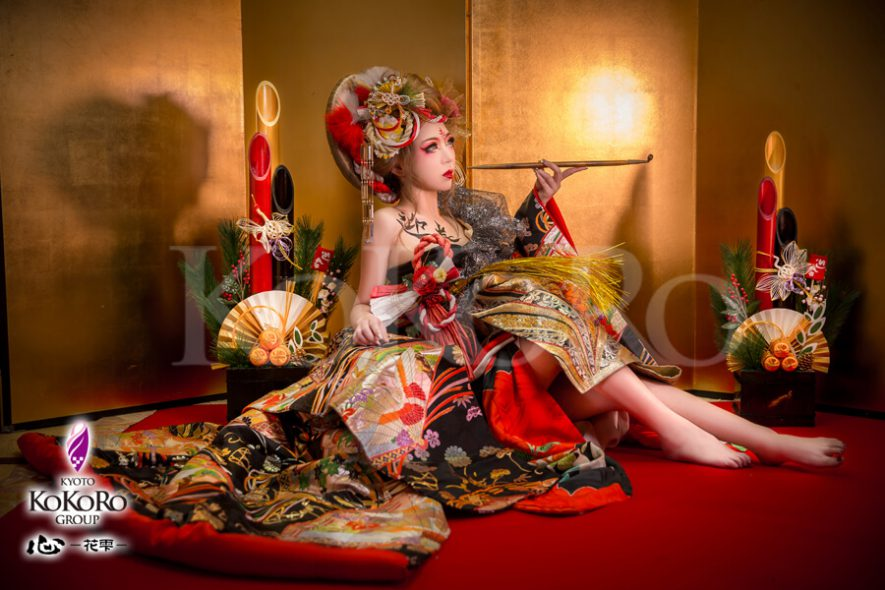 平成最後のお正月は心花雫のお正月花魁でめでたいお正月を写そう♪