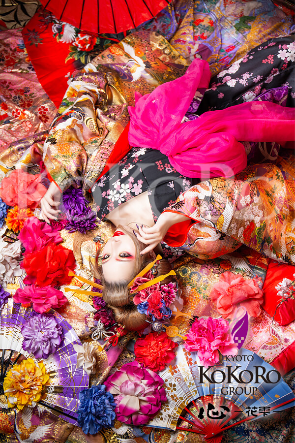 花魁体験の瑠璃蝶々プラン